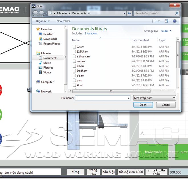 giao diện lưu file thiết lập kích thước cắt
