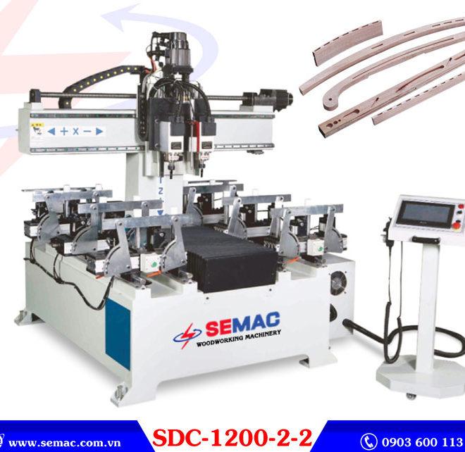 Máy đánh mộng âm cnc 2 đầu SDC-1200-2-2