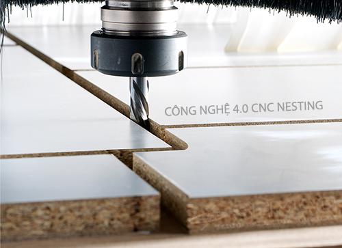 quy trình sản xuất nội thât tự động cnc nesting