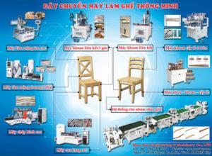 chuyền sản xuât ghế gỗ thông minh
